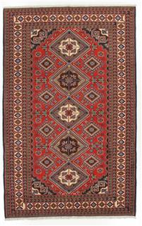 Persian carpet with geometrical pattern